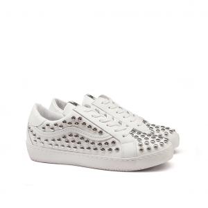 Sneaker bianca borchiata Méliné
