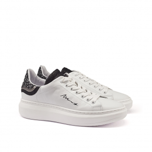 Sneaker bianca/nera Méliné