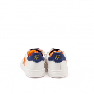 Sneaker bianca/arancio Naturino