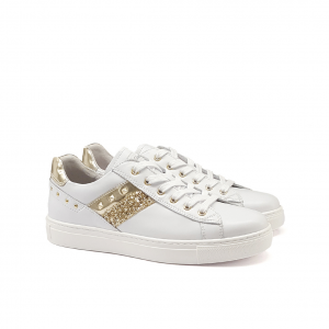 Sneaker bianca/platino NeroGiardini