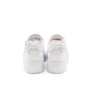 Sneaker platform bianca con fiocco NeroGiardini