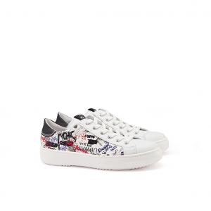 Sneaker bianca/writer NeroGiardini