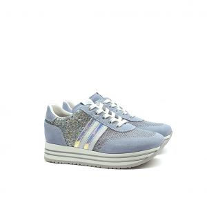 Sneaker platform cielo NeroGiardini