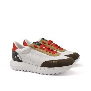 Sneaker bianca/mimetico Stokton