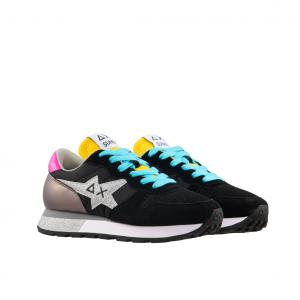 Sneaker nera/multicolor SUN68