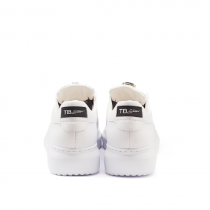 Sneaker bianca con pietre Tosca Blu