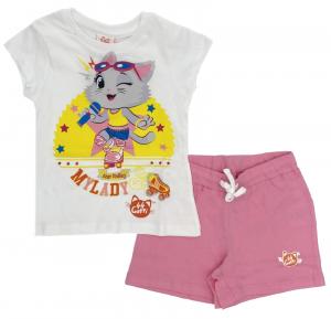 Completo 44 gatti T-shirt con pantaloncini da 3 a 7 anni