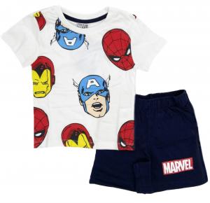 Completo T-shirt con Pantaloncino Avengers da 3 a 7 anni Estate 2021
