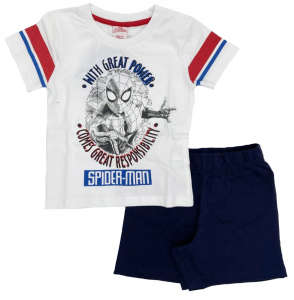 Completo Spiderman T-shirt con pantaloncini da 3 a 7 anni Estate 2021-2