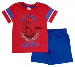 Completo Spiderman T-shirt con pantaloncini da 3 a 7 anni Estate 2021-2