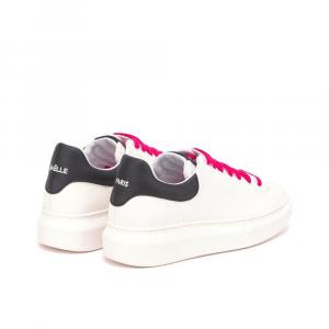 Gaelle Paris Sneakers laccio Decoro Bianca Nera da Donna