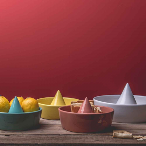 Portaoggetti centrotavola portafrutta Sombrero B in ceramica verde