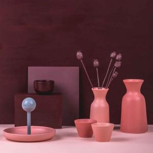 Bicchiere ciotola da tavola in ceramica opaca grigia made in Faenza