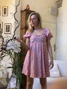 Abito Chiara Ferragni  con Maniche Sbuffo Fantasia Vicolo
