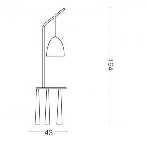 IDEAL LUX LAMPADA PIANO PT1 BIANCO