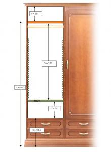 Armario modular clásico 4 puertas y 8 cajones
