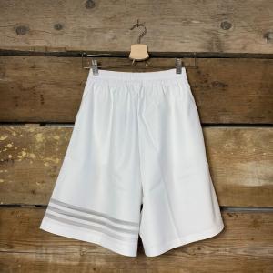 Pantaloncino Adidas Donna Oversize Bianco con Strisce