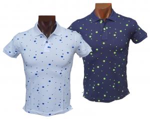 T-shirt Polo Maglietta uomo con colletto a 2 bottoni in Cotone FERRUCCI - ELIAN