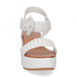 Inuovo sandalo 123035 pelle bianca-3