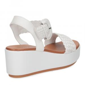 Inuovo sandalo 123035 pelle bianca-5
