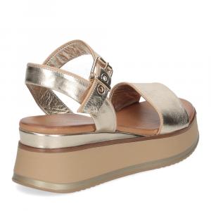 Inuovo sandalo 774011 pelle platino-5