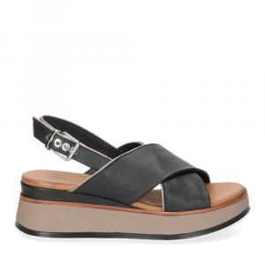 Inuovo Sandalo 774012 pelle nera-2