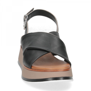 Inuovo Sandalo 774012 pelle nera-3