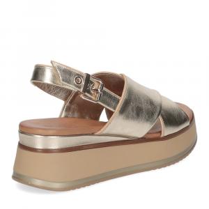 Inuovo Sandalo 774012 pelle platino-5