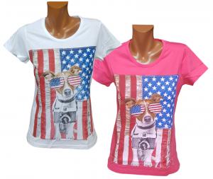 T-shirt, Maglietta donna a manica corta, girocollo 100% Cotone FERRUCCI - BEAGLE