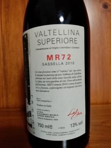 Valtellina Superiore Docg MR72 Sassella 2010 cl.75 - La Spia