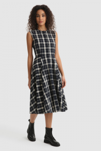 SHOPPING ON LINE  WOOLRICH  PATTERNED LONG DRESS VESTITO LUNGO IN COTONE FANTASIA NEW COLLECTION WOMEN'S SPRING SUMMER 2021
