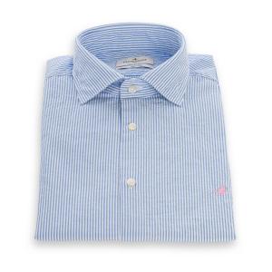 Camicia Brooksfield Bastoncino Bianco Azzurro