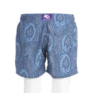 Boxer Mare Etro fantasia cachemire Blu