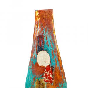 Vaso alto artigianale in ceramica di Faenza