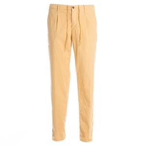 Pantalone Pence e Coulisse Incotex Slacks Giallo modello Tappered