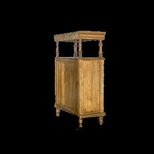 Credenza con ante intagliate e ripiano superiore in legno di teak balinese