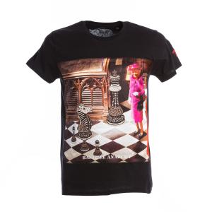 T-Shirt Bastille Nera Stampa Regina