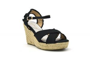 Sandalo con zeppa in corda