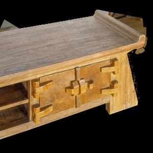 Porta tv in legno di teak indonesiano
