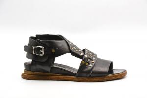 NOVITA' P/E 2021 Rebecca White Calzatura Donna-Savana Vacchetta Black UR0503-V2