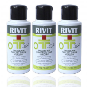 RIVIT Emulsione Mani Purificante Azione Igienizzante - Gel 75ML Confezione da 3