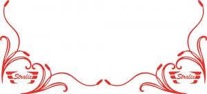 Adesivo interno finestrino effige palude con logo Stralis