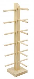 Espositore da banco in legno per portachiavi