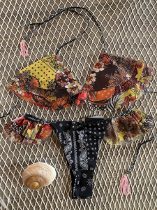 Bikini Triangolo e slip brasiliano volant Summer of Love Effek
