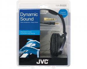 JVC HA-RX500-E Cuffie Padiglione auricolare Connettore 3.5 mm Nero, Bianco