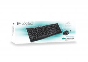 Logitech MK270 tastiera RF Wireless QWERTY Italiano Nero