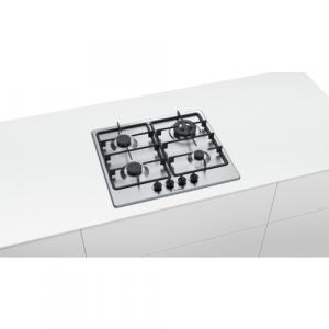 Bosch Serie 4 PGH6B5B60 piano cottura da incasso 60cm 3 fuochi+1 tripla doppia corona inox