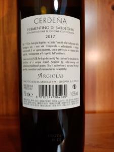 Cerdeña Vermentino di Sardegna Doc 2017 cl.75 - Argiolas