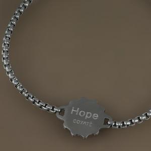 Goyatè - Bracciale Nautilus Hope timone e ancora in acciaio