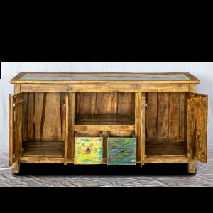 Buffet in legno di teak recuperato da barche
